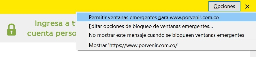 activar ventana emergente chrome